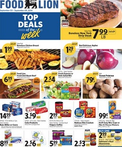 Food Lion Weekly Circular Sept 03 Sept 09 2014 Boneless Chicken