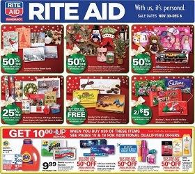 Rite Aid Circular Nov 28 - Dec 06, 2014. Artificial Christmas ...