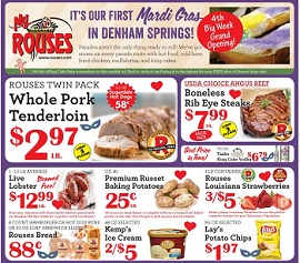Weekly Sales Circular >> Rouses Supermarkets Weekly Ad Specials