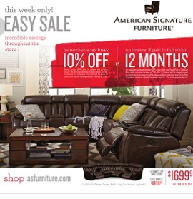 American Signature Furniture Weekly Ads