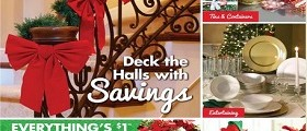 Dollar Tree Holiday Catalog October – December 2015. Deck the Halls with Savings!