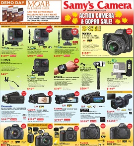 Samy's Camera Weekly Ad Savings