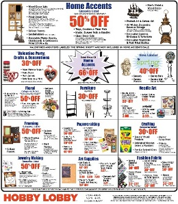 Hobby Lobby Weekly Ad January 24 - 30, 2016