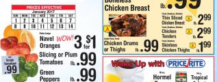 Price Rite Circular January 1 – January 14, 2017