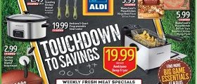 Aldi Weekly Circular January 25 - January 31, 2017. Touchdown to Savings!