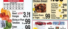Price Rite Weekly Specials January 1 – January 14, 2017. Boneless Chicken Breast on Sale!