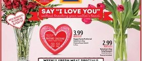 Aldi Weekly Flyer February 8 – February 14, 2017. Valentine's Day Savings!