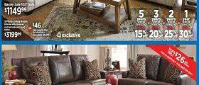 Ashley Furniture Weekly Ad February 21 – February 27, 2017. Presidents' Day Sale!