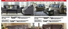 Ashley Furniture Weekly Specials June 13 – June 19, 2017. Best 4th of July Offer Ever!