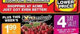 Acme Weekly Circular Ad July 28 - August 3, 2017. Xtrasavings!