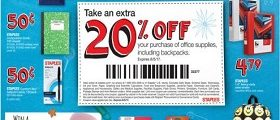 Staples Circular Ad July 30 – August 5, 2017. Office Supplies in Sale!