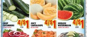 Vallarta Weekly Specials July 26 – August 1, 2017. Juicy Cantaloupe on Sale!