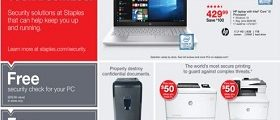 Staples Weekly Circular October 1 – October 7, 2017. Upgrade On Any Budget!