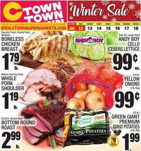 Ctown Weekly Deals January 12 - January 18, 2018. Winter Sale!