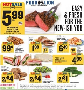 Food Lion Weekly Flyer January 17 January 23 2018 Boneless New