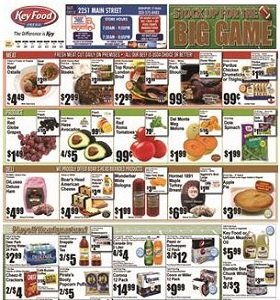 Key Food Weekly Ad January 19 - January 25, 2018. Stock Up for The Big Game!