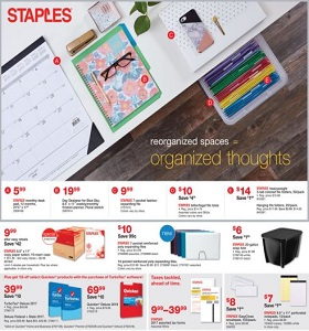 Staples Weekly Deals January 14 - January 20, 2018. Reorganized Spaces!