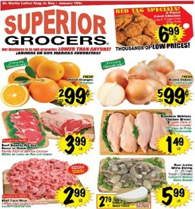 Superior Grocers Weekly Ad January 10 - January 16, 2018