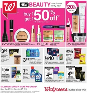 Walgreens Weekly Ad January 21 - January 27, 2018. Beauty Must-Haves!