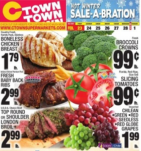 Ctown Weekly Ad February 23 - March 1, 2018. Hot Winter Sale-A Bration!