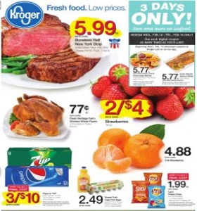 Kroger Weekly Circular February 14 - February 20, 2018. Boneless Half New York Strip on Sale!