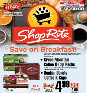 ShopRite Weekly Flyer February 25 - March 3, 2018. Coleman Thin Sliced Boneless Breast