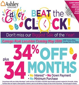 Ashley Furniture Weekly Ad March 20 - March 26, 2018. Easter Sale!