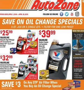 AutoZone Weekly Ad Circular April 3 - April 30, 2018