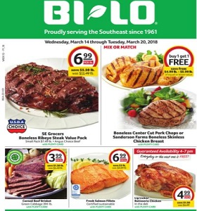 BI-LO Weekly Flyer March 14 - March 20, 2018. Kerrygold Cheese on Sale!
