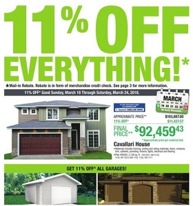 Menards Flyer March 18 - March 24, 2018