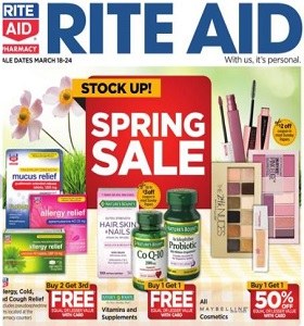 Rite Aid Weekly Circular March 18 - March 24, 2018. Spring Sale!