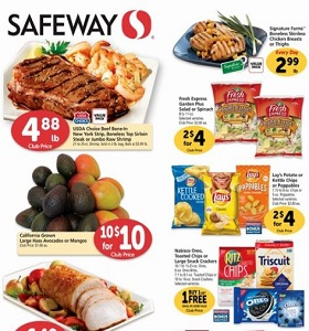 Safeway Flyer March 21 - March 27, 2018. General Mills Cereal on Sale!