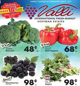 Valli Produce Weekly Ad March 21 - March 27, 2018