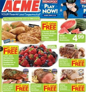 Acme Weekly Flyer April 27 - May 3, 2018. Lucerne Large Eggs on Sale!