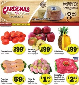 Cardenas Weekly Ad April 25 - May 1, 2018. Chicken Drumsticks