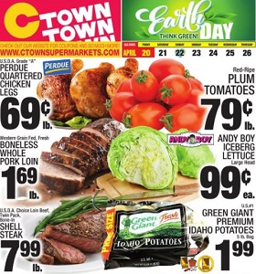 Ctown Weekly Ad April 20 - April 26, 2018. Think Green on Earth Day!