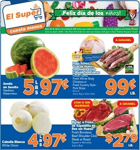 El Super Weekly Ads April 25 - May 1, 2018. Foster Farms Fresh Whole Body Chickens