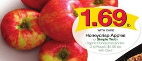 Kroger Weekly Ad April 18 – April 24, 2018. Simple Truth Organic Honeycrisp Apples