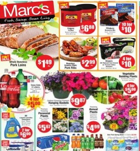 Marc's Weekly Ad April 25 - May 1, 2018. Folgers Coffee on Sale!