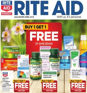 Rite Aid Weekly Circular April 15 - April 21, 2018. daylogic Skin or Sun Care Products on Sale!
