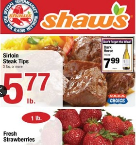 Shaw's Weekly Flyer April 27 - May 3, 2018. Salmon Fillets on Sale!