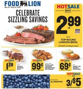 Food Lion Weekly Flyer May 16 May 22 2018 Celebrate Sizzling