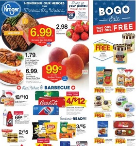 Kroger Weekly Flyer May 23 - May 29, 2018. Memorial Day Specials!