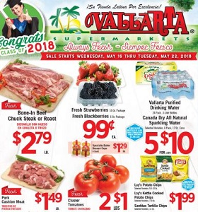 Vallarta Weekly Circular May 16 - May 22, 2018. Bone-In Beef Chuck Steak or Roast