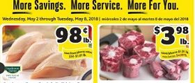 Winn Dixie Weekly Ad May 2 – May 8, 2018. Frozen Beef Oxtails