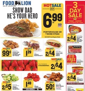 Food Lion Weekly Ad June 13 June 19 2018 Show Dad Hes Your Hero