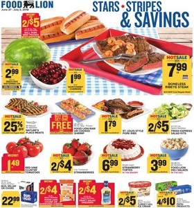 Food Lion Weekly Flyer June 27 July 3 2018 Stars Stripes Savings