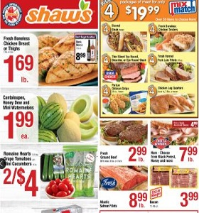 Shaw's Weekly Flyer June 22 - June 28, 2018. Packages of Meat on Sale!