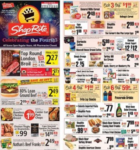 ShopRite Weekly Circular June 24 - June 30, 2018. Top Round London Broil on Sale!