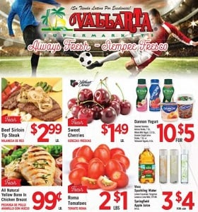 Vallarta Weekly Ad July 11 - July 17, 2018. Beef Sirloin Tip Steak